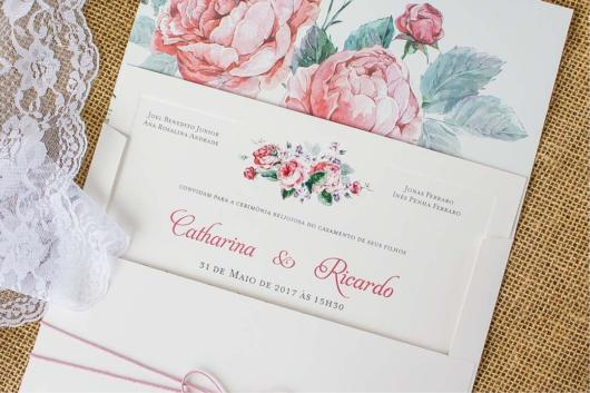 flowers theme party invitation