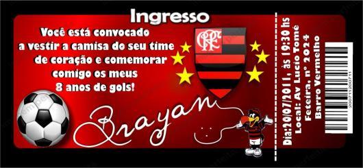 Flamengo Party Invitation Ticket