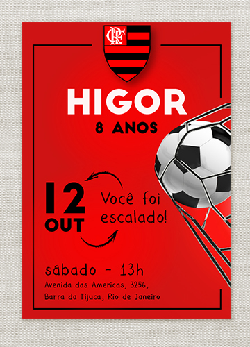 How about innovating in design to make Flamengo's invitation super attractive?