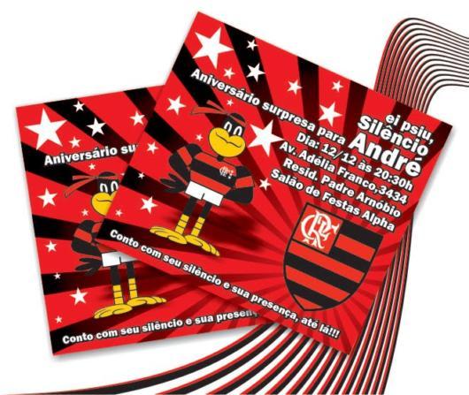 Flamengo invitation to a surprise party