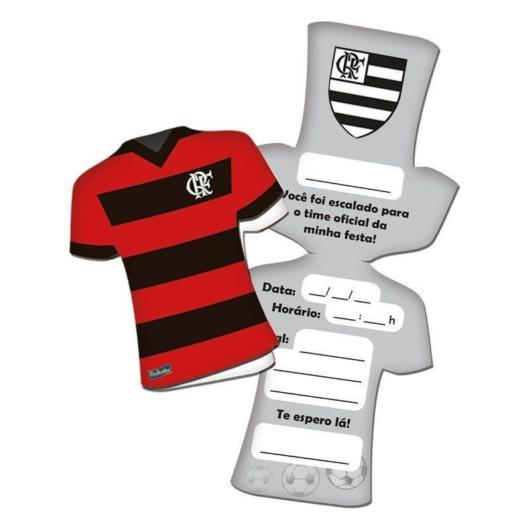 Invitation in the format of Flamengo's uniform, undoubtedly a very original version