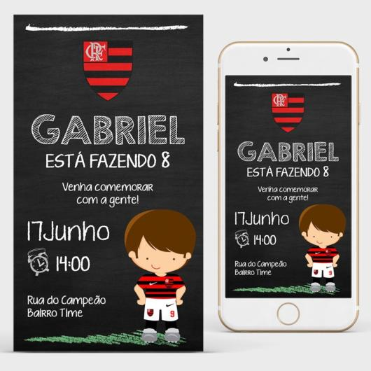 You can invest in both physical and digital invitations, so that guests receive on the smartphone