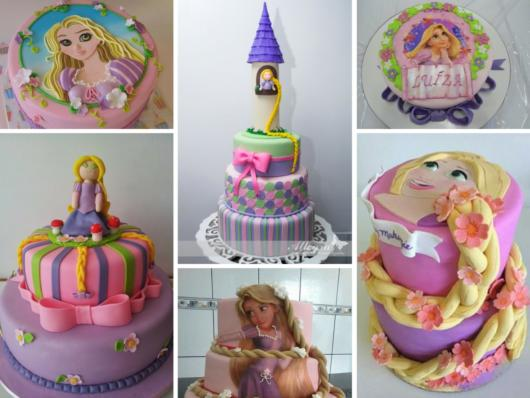 There are many, many possibilities for making Rapunzel-inspired cakes