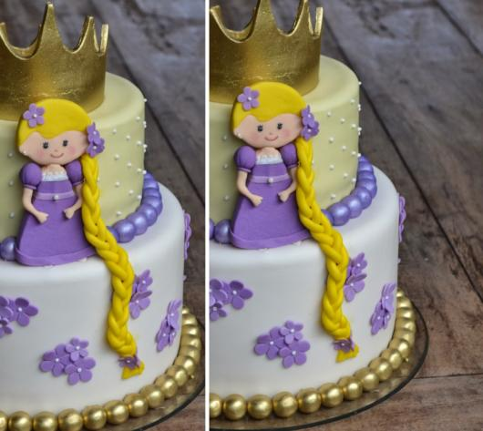 Beautiful Rapunzel cake with long braids