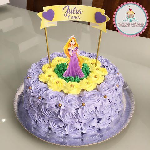 Rapunzel themed party cake idea