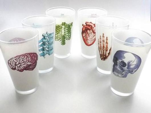 Customized cups with human body parts