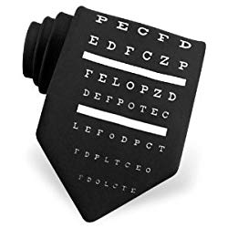 For ophthalmologists, a themed tie with a letter frame