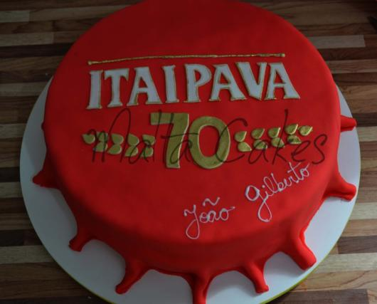 The Itaipava cake bottle cap version is very nice and perfect for any party!