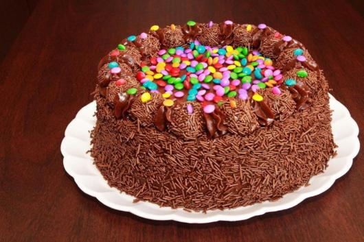 cake with M & Ms