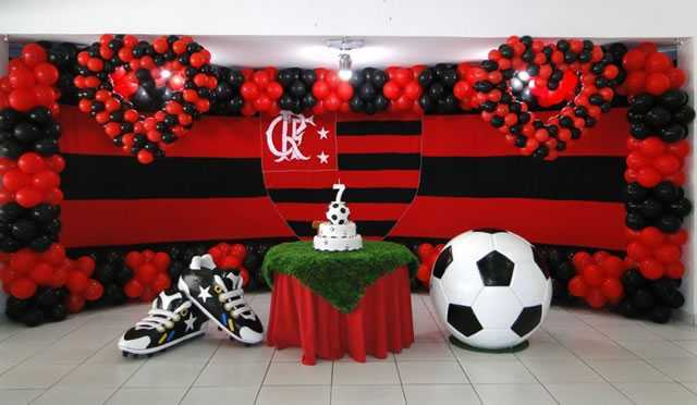 Flamengo party for man with personalized panel