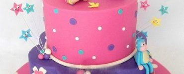 Pink and purple adventurous Dora cake.