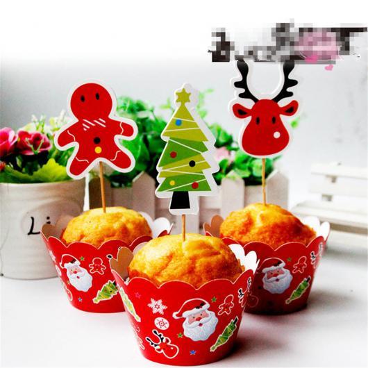 Christmas Cupcake with Santa Claus Cup