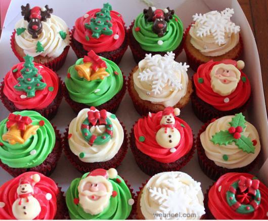 Christmas Cupcake with American Reindeer Folder Ornament Christmas Tree Wreath and Snowflake