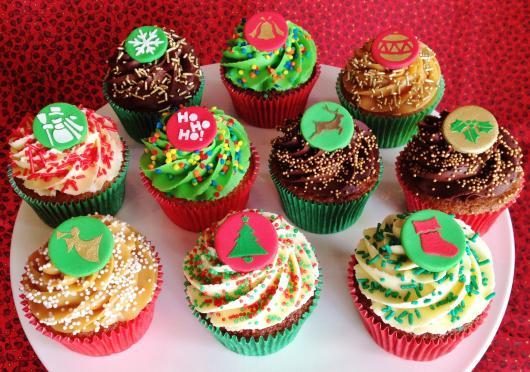 Christmas cupcake mini American paste appliques