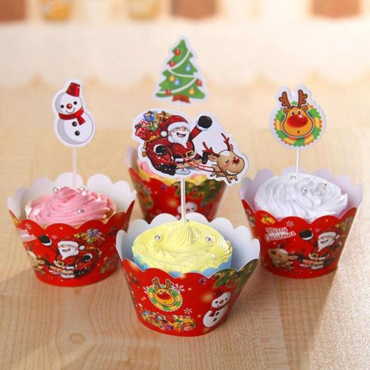 red wrapper christmas cupcake