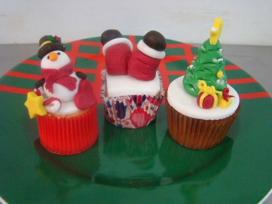 Christmas cupcake with american folder decoration