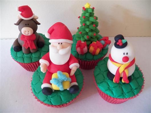 Christmas Cupcake Santa Claus Christmas Tree and Nest Milk Paste Reindeer
