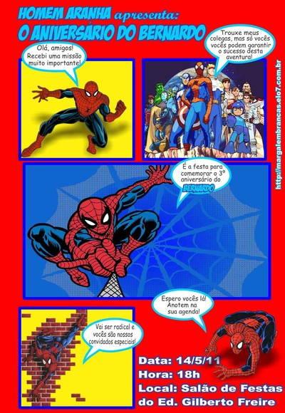 Spider-Man Comic Book Template Invitations
