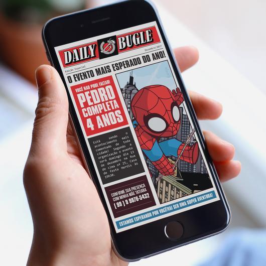 Spider-Man invitations digital template