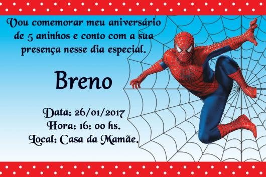 Spider-Man Personalized Card Invitations