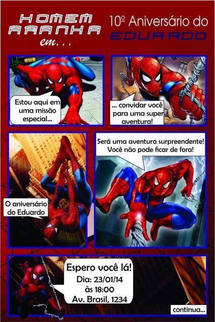 Spider-Man Comic Invitations