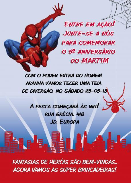Spiderman Card Invitations