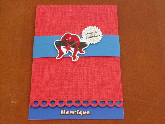 Red and Blue Scrapbook Spider-Man Invitations