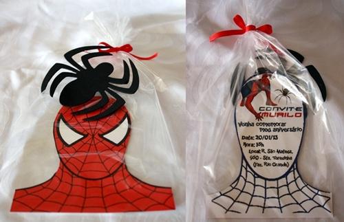 Spiderman Bust Invitations