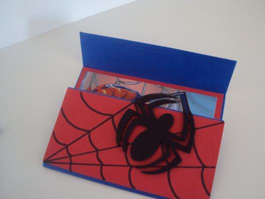Spider-Man Invitations made with EVA