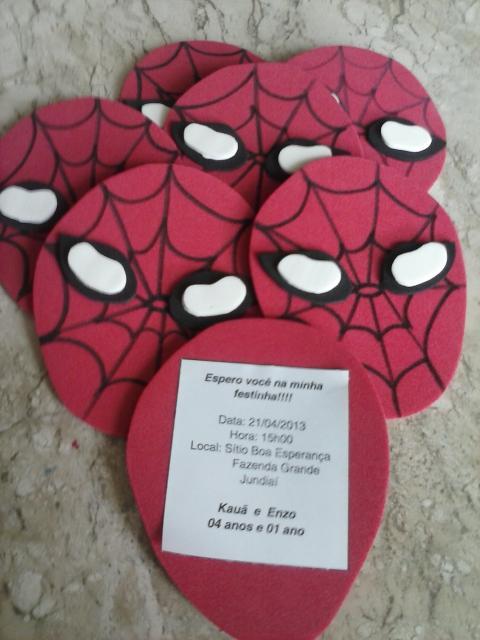 Spider-Man Invitations EVA mask