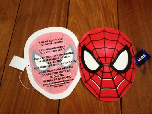 Spider-Man Invitations Mask Printed