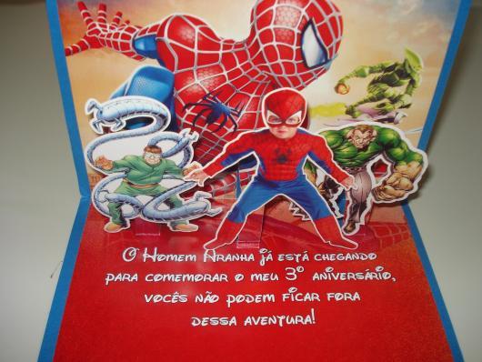 Spider-Man Invitations 3D Applique