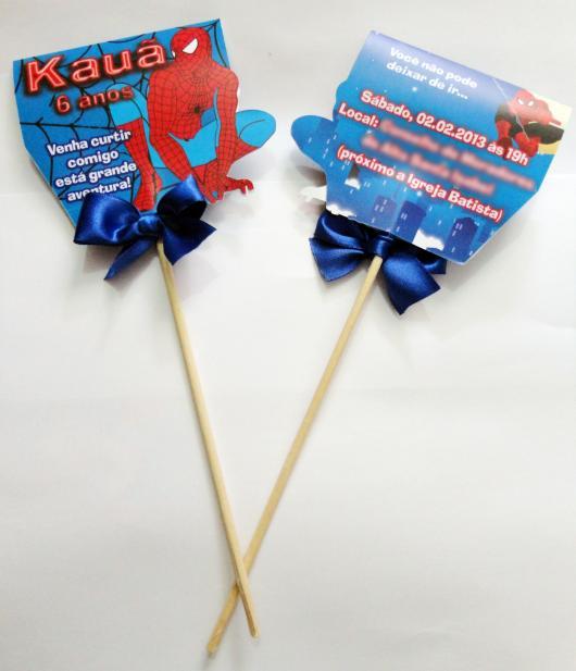 Spider-Man Invitations in Lollipop