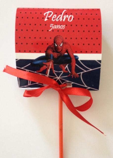 Red Lollipop Spider-Man Invitations
