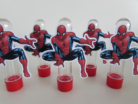 Spider-Man invitations in tube