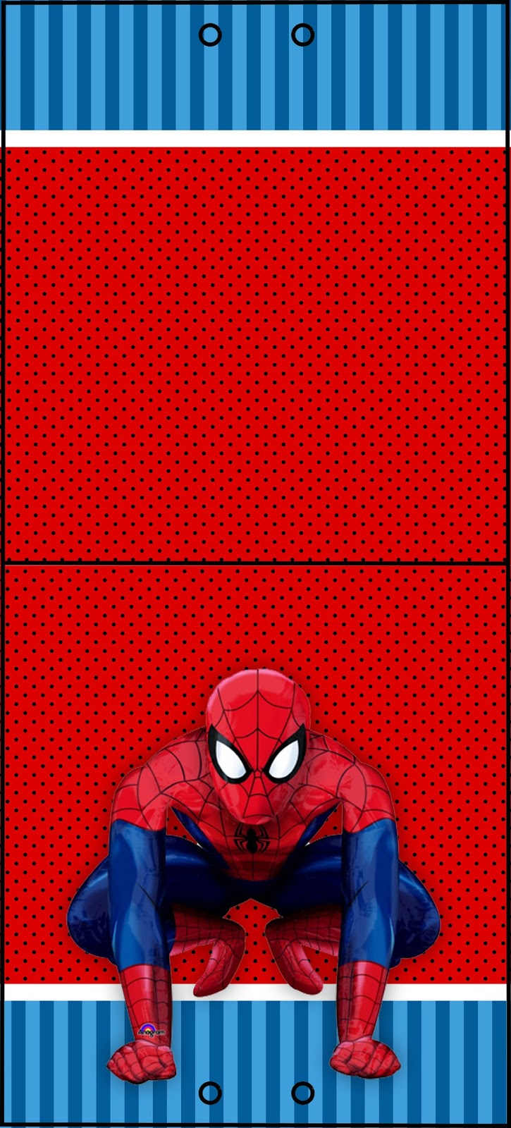 Spider-Man Lollipop Invitations to Print at Home
