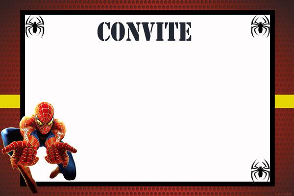 Spiderman card invitations to edit