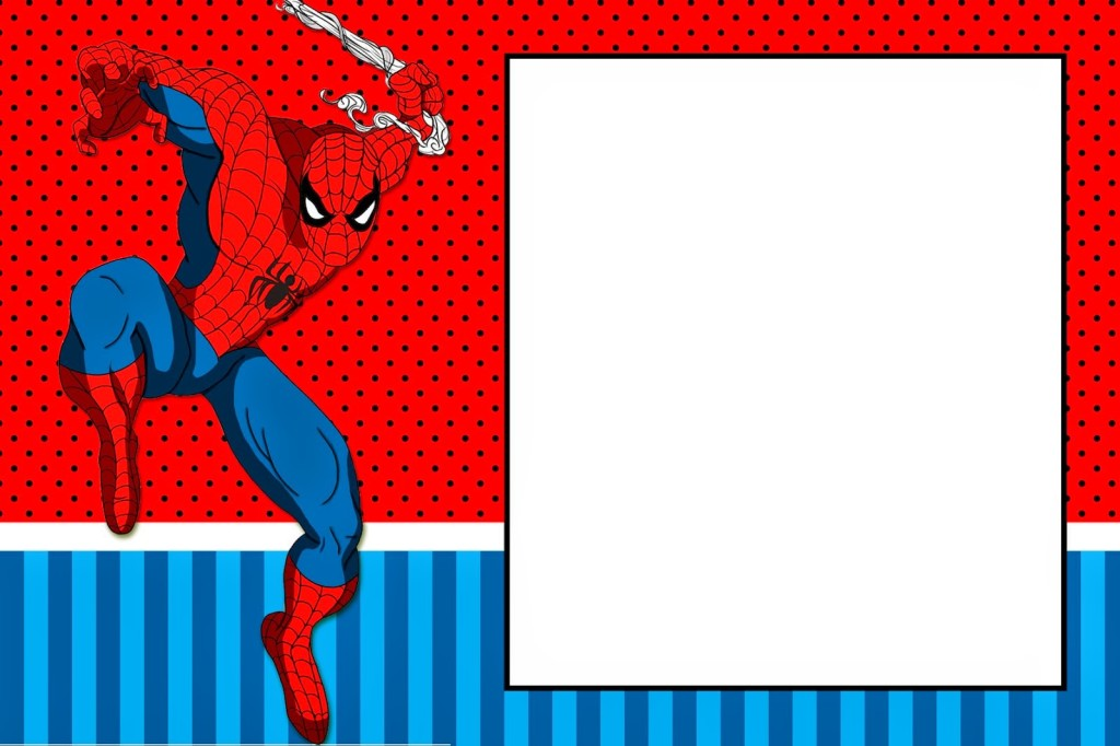 Spider-Man Invitations Card to Print