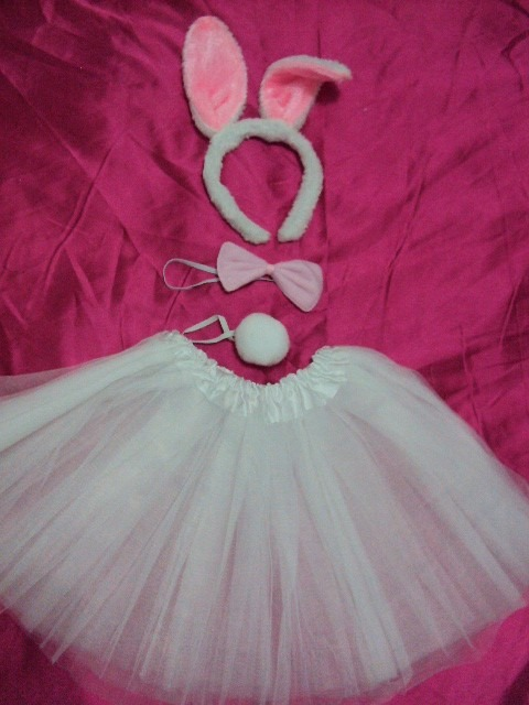 Simple white rabbit costume