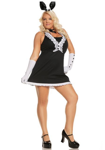 Black and white rabbit costume