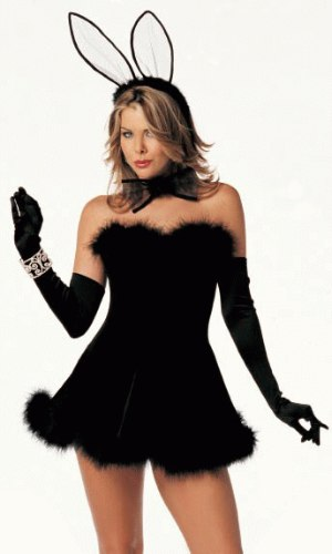 black rabbit costume