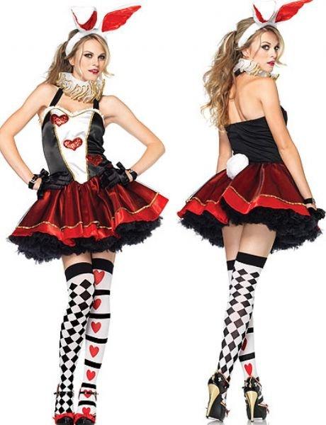 Black red and white rabbit costume