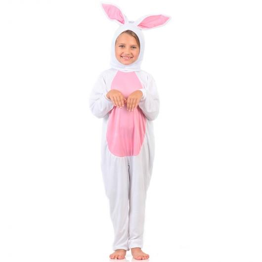 Pink and white children's bunny costume