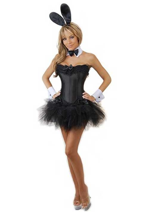 Black and white rabbit costume with tulle
