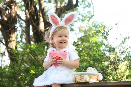 Plush children's bunny costume