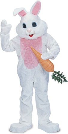 White and pink Easter bunny costume