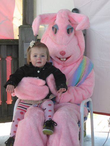 Pink Easter Bunny costume
