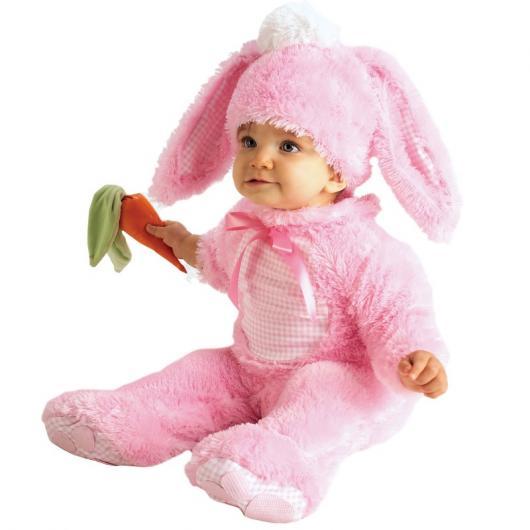 Plush female bunny costume