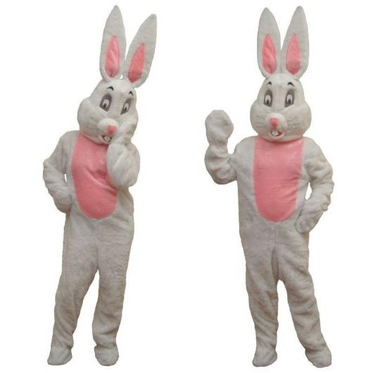 Pink and gray Easter bunny costume