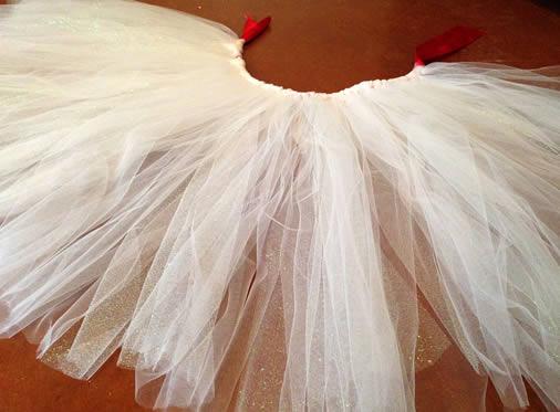 Bunny costume white tulle skirt
